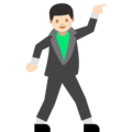 Man Dancing: Light Skin Tone on Google Android 7.1