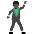 Man Dancing: Dark Skin Tone on Google Android 7.1