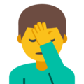 Man Facepalming on Google Android 7.1