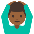 Man Gesturing OK: Medium-Dark Skin Tone on Google Android 7.1