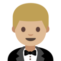 Man in Tuxedo: Medium-Light Skin Tone on Google Android 7.1