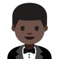 Man in Tuxedo: Dark Skin Tone on Google Android 7.1