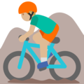 Man Mountain Biking: Medium-Light Skin Tone on Google Android 7.1