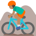 Man Mountain Biking: Medium Skin Tone on Google Android 7.1