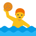 Man Playing Water Polo on Google Android 7.1