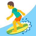 Man Surfing on Google Android 7.1