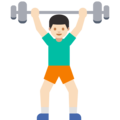 Man Lifting Weights: Light Skin Tone on Google Android 7.1
