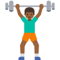 Man Lifting Weights: Medium-Dark Skin Tone on Google Android 7.1