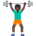 Man Lifting Weights: Dark Skin Tone on Google Android 7.1