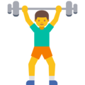 Man Lifting Weights on Google Android 7.1