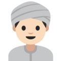 Person Wearing Turban: Light Skin Tone on Google Android 7.1