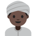 Person Wearing Turban: Dark Skin Tone on Google Android 7.1