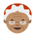 Mrs. Claus: Medium Skin Tone on Google Android 7.1