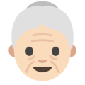 Old Woman: Light Skin Tone on Google Android 7.1