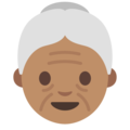 Old Woman: Medium Skin Tone on Google Android 7.1