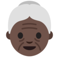 Old Woman: Dark Skin Tone on Google Android 7.1