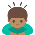 Person Bowing: Medium Skin Tone on Google Android 7.1