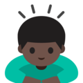 Person Bowing: Dark Skin Tone on Google Android 7.1