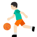 Person Bouncing Ball: Light Skin Tone on Google Android 7.1