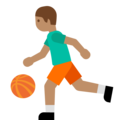 Person Bouncing Ball: Medium Skin Tone on Google Android 7.1