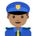 Police Officer: Medium Skin Tone on Google Android 7.1
