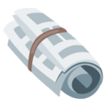 Rolled-Up Newspaper on Google Android 7.1