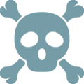 Skull and Crossbones on Google Android 7.1