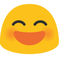 Smiling Face With Open Mouth & Smiling Eyes on Google Android 7.1