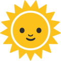 Sun With Face on Google Android 7.1