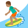 Person Surfing: Medium Skin Tone on Google Android 7.1