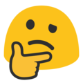 Thinking Face on Google Android 7.1
