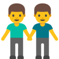Two Men Holding Hands on Google Android 7.1