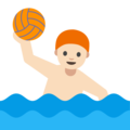Person Playing Water Polo: Light Skin Tone on Google Android 7.1