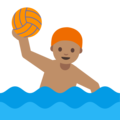 Person Playing Water Polo: Medium Skin Tone on Google Android 7.1