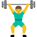 Person Lifting Weights on Google Android 7.1