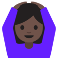 Woman Gesturing OK: Dark Skin Tone on Google Android 7.1