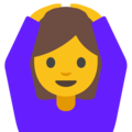 Woman Gesturing OK on Google Android 7.1