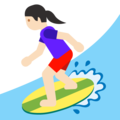 Woman Surfing: Light Skin Tone on Google Android 7.1