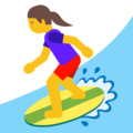 Woman Surfing on Google Android 7.1