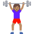 Woman Lifting Weights: Medium Skin Tone on Google Android 7.1
