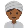 Woman Wearing Turban: Medium-Dark Skin Tone on Google Android 7.1