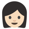 Woman: Light Skin Tone on Google Android 7.1