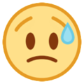 Disappointed but Relieved Face on HTC Sense 7