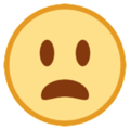 Frowning Face With Open Mouth on HTC Sense 7