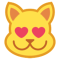 Smiling Cat Face With Heart-Eyes on HTC Sense 7