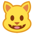 Smiling Cat Face With Open Mouth on HTC Sense 7