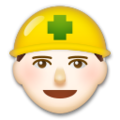 Construction Worker: Light Skin Tone on LG G5