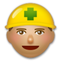 Construction Worker: Medium Skin Tone on LG G5