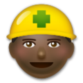 Construction Worker: Dark Skin Tone on LG G5
