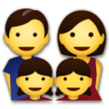 Family: Man, Woman, Girl, Girl on LG G5